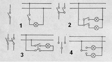 Two-way switches: wiring diagram