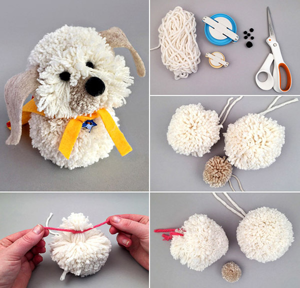Doing your own hands a Christmas toy dog