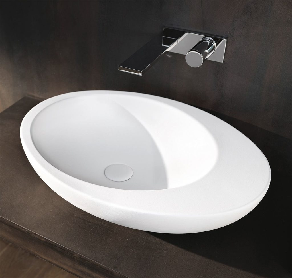 Waybill sink with countertop.